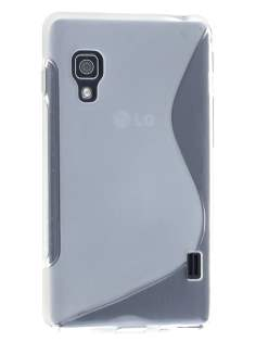 Wave Case for LG Optimus L5 II E460 - Frosted Clear/Clear Soft Cover
