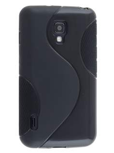 Wave Case for LG Optimus L7 II Dual P715 - Frosted Black/Black