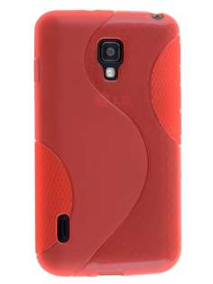 Wave Case for LG Optimus L7 II Dual P715 - Frosted Red/Red Soft Cover