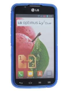 Wave Case for LG Optimus L7 II Dual P715 - Frosted Blue/Blue