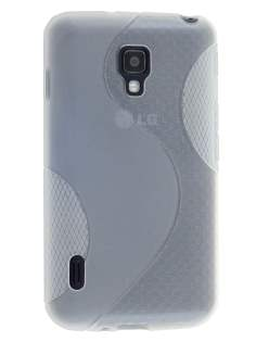 Wave Case for LG Optimus L7 II Dual P715 - Frosted Clear/Clear Soft Cover