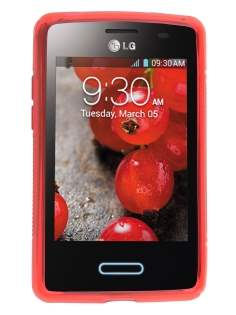 LG Optimus L3 II E430 Wave Case - Frosted Red/Red