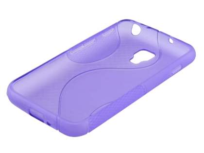 LG Optimus L7 II Dual P715 Wave Case - Frosted Purple/Purple