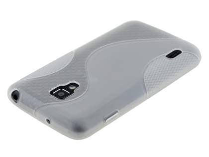 LG Optimus L7 II Dual P715 Wave Case - Frosted Clear/Clear