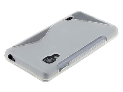 Wave Case for LG Optimus L5 II E460 - Frosted Clear/Clear