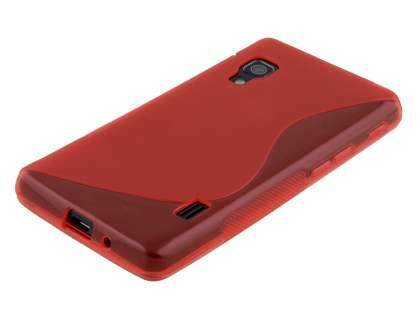 Wave Case for LG Optimus L5 II E460 - Frosted Red/Red