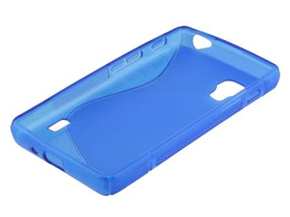 Wave Case for LG Optimus L5 II E460 - Frosted Blue/Blue