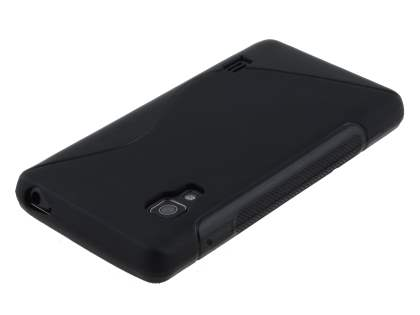 LG Optimus L5 II E460 Wave Case - Frosted Black/Black