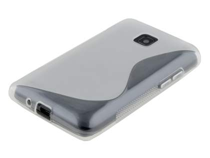 LG Optimus L3 II E430 Wave Case - Frosted Clear/Clear