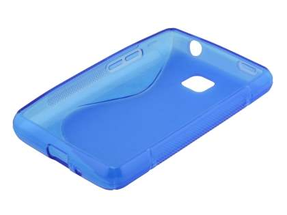 Wave Case for LG Optimus L3 II E430 - Frosted Blue/Blue
