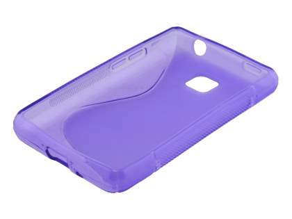 LG Optimus L3 II E430 Wave Case - Frosted Purple/Purple