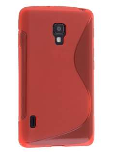 Wave Case for LG Optimus L7 II P710 - Frosted Red/Red Soft Cover