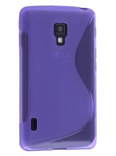Wave Case for LG Optimus L7 II P710 - Frosted Purple/Purple Soft Cover