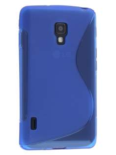 LG Optimus L7 II P710 Wave Case - Frosted Blue/Blue