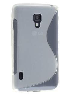 Wave Case for LG Optimus L7 II P710 - Frosted Clear/Clear Soft Cover
