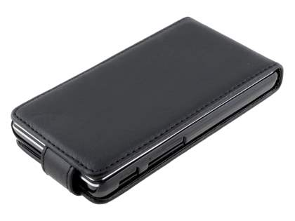 Synthetic Leather Flip Case for LG Optimus L5 II E460 - Classic Black