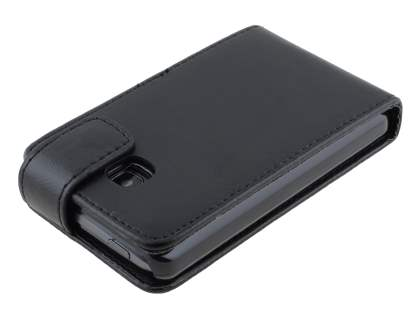 LG Optimus L3 II E430 Synthetic Leather Flip Case - Classic Black