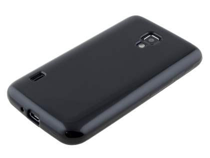 LG Optimus L7 II P710 Frosted Colour TPU Gel Case - Classic Black
