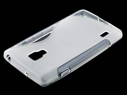 LG Optimus L7 II P710 Wave Case - Frosted Clear/Clear