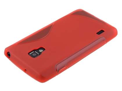 LG Optimus L7 II P710 Wave Case - Frosted Red/Red