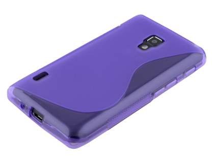 Wave Case for LG Optimus L7 II P710 - Frosted Purple/Purple