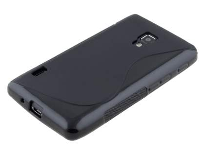 Wave Case for LG Optimus L7 II P710 - Frosted Black/Black