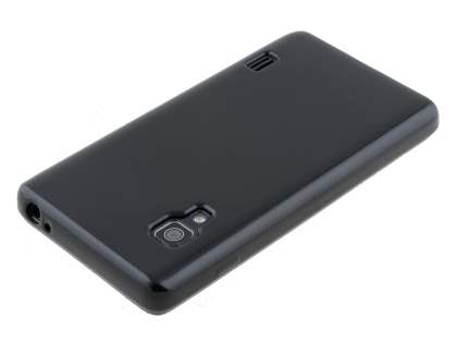 LG Optimus L5 II E460 Frosted Colour TPU Gel Case - Classic Black