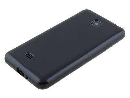 Frosted Colour TPU Gel Case for LG Optimus F5 P875 - Classic Black