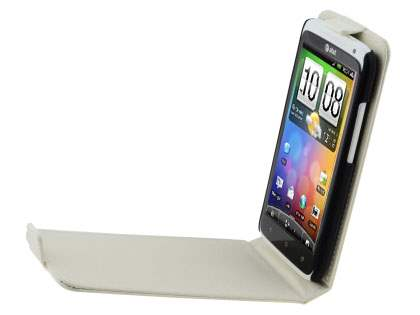 TS-CASE crocodile pattern Genuine leather Flip Case for HTC One X - Pearl White