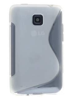 Wave Case for LG Optimus L3 II Dual E435 - Frosted Clear/Clear Soft Cover
