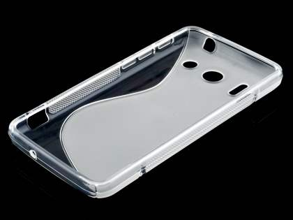 Huawei Ascend G510 Wave Case - Frosted Clear/Clear