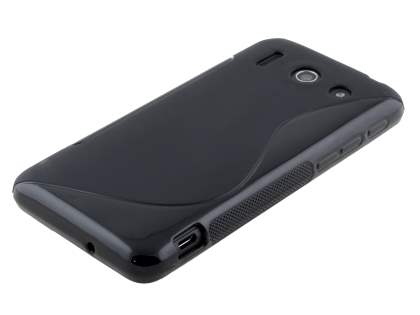 Huawei Ascend G510 Wave Case - Frosted Black/Black