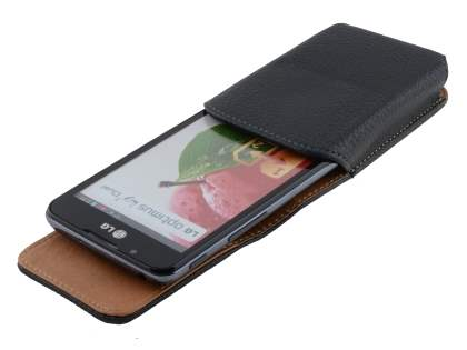 Textured Synthetic Leather Vertical Belt Pouch for LG Optimus L7 II Dual P715