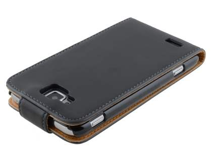 Samsung Ativ S I8750 Synthetic Leather Flip Case - Black