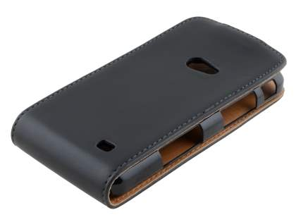 Synthetic Leather Flip Case for Samsung I8530 Galaxy Beam - Black
