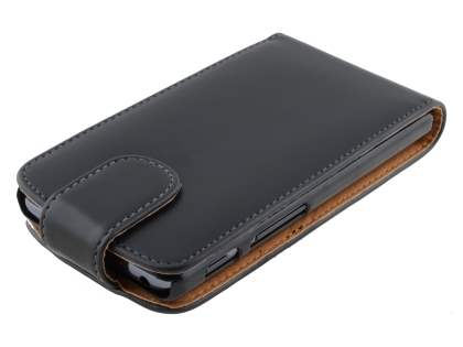Synthetic Leather Flip Case for LG Optimus L7 II P710 - Black
