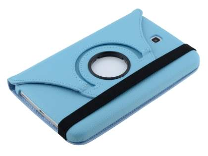 Samsung Galaxy Tab 3 7.0 VELOCITY Synthetic Leather 360° Swivel Flip Case - Sky Blue