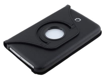 VELOCITY Synthetic Leather 360? Swivel Flip Case for Samsung Galaxy Tab 3 7.0 - Classic Black