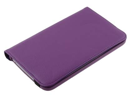 Samsung Galaxy Tab 3 7.0 VELOCITY Synthetic Leather 360° Swivel Flip Case - Purple