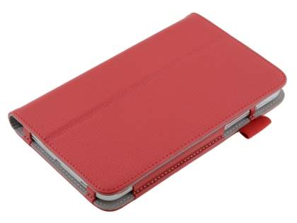 Synthetic Leather Flip Case with Fold-Back Stand for Samsung Galaxy Tab 3 7.0 - Red