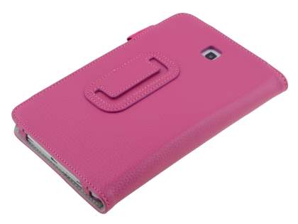 Samsung Galaxy Tab 3 7.0 Synthetic Leather Flip Case with Fold-Back Stand - Pink