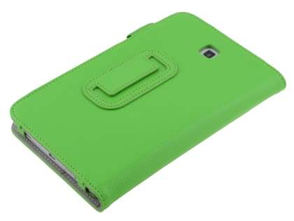 Samsung Galaxy Tab 3 7.0 Synthetic Leather Flip Case with Fold-Back Stand - Green