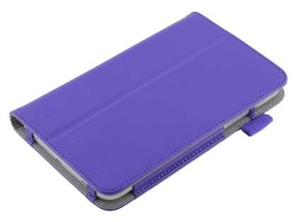 Samsung Galaxy Tab 3 7.0 Synthetic Leather Flip Case with Fold-Back Stand - Purple
