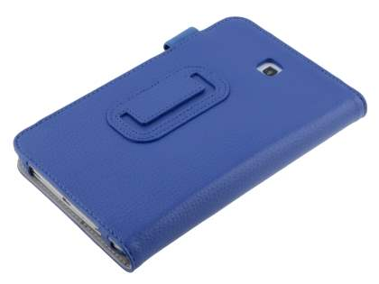 Samsung Galaxy Tab 3 7.0 Synthetic Leather Flip Case with Fold-Back Stand - Blue