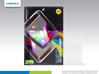MOMAX iPad 2/3/4 Crystal-Clear Screen Protector - Screen Protector