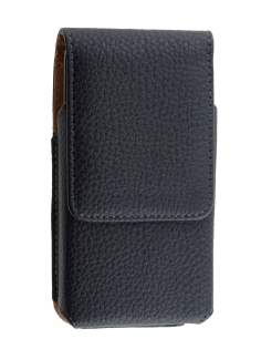 Textured Synthetic Leather Vertical Belt Pouch for Huawei - Belt Pouch