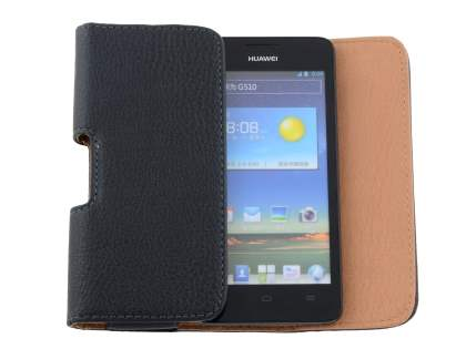 Textured Synthetic Leather Belt Pouch for Huawei Ascend G510