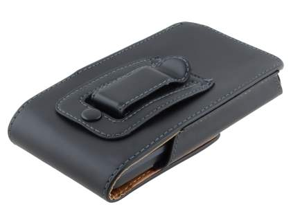 Smooth Synthetic Leather Vertical Belt Pouch for Huawei