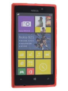 Wave Case for Nokia Lumia 925 - Frosted Red/Red
