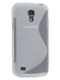 Wave Case for Samsung Galaxy S4 mini - Frosted Clear/Clear